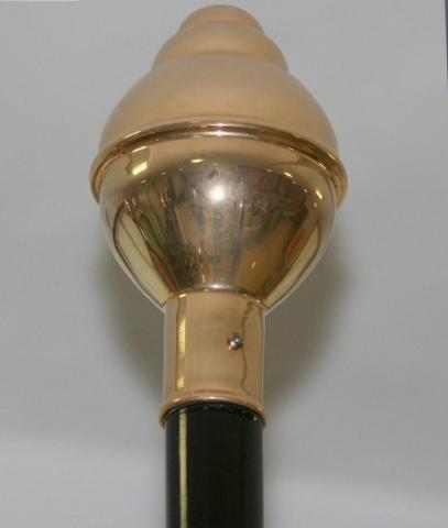Bola. Terminal para haste ou mastro de interior