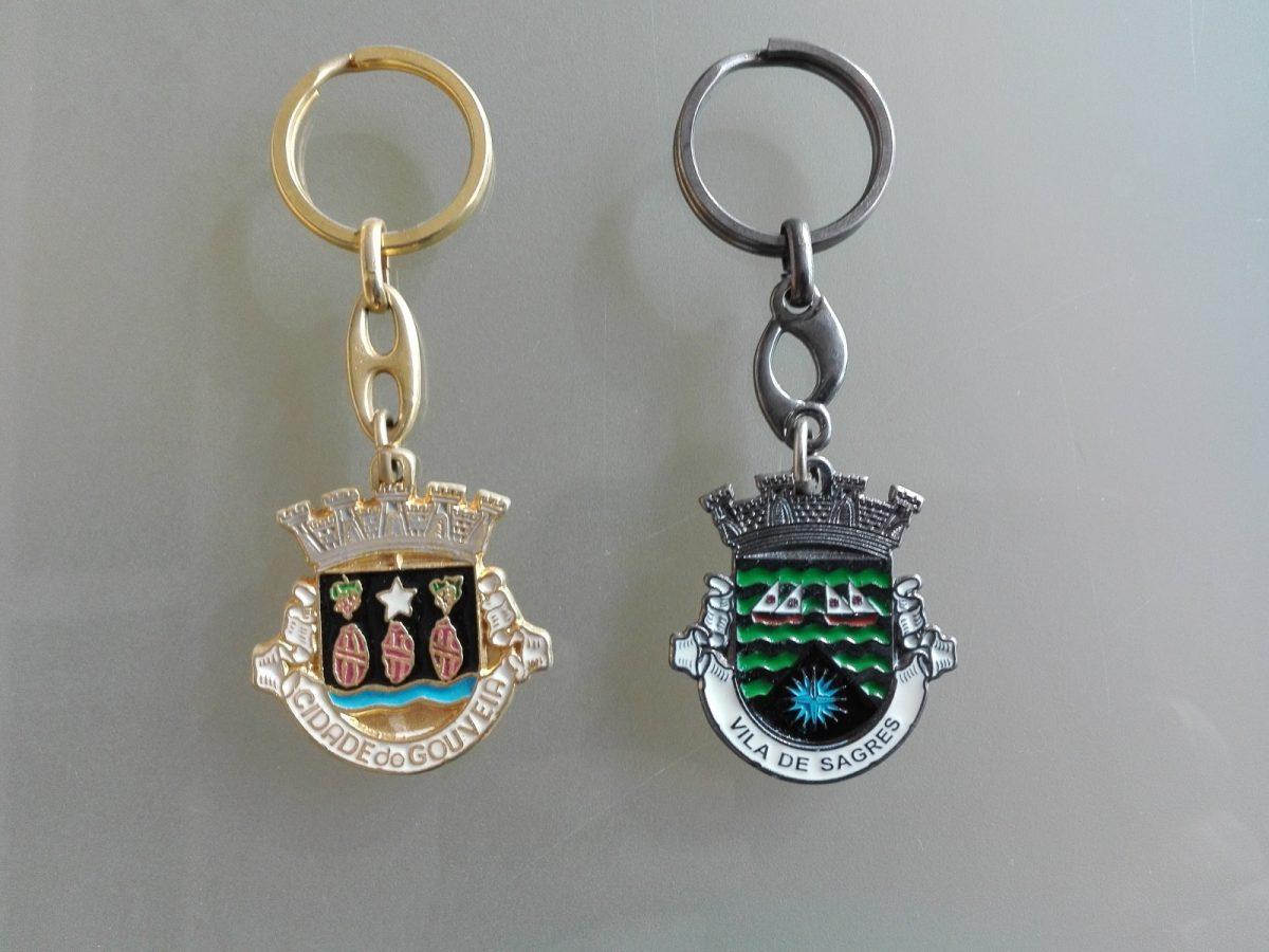 Porta chaves Juntas de Freguesia. Brasão recortado. Dourado ou niquelado - Bandeiras do Algarve
