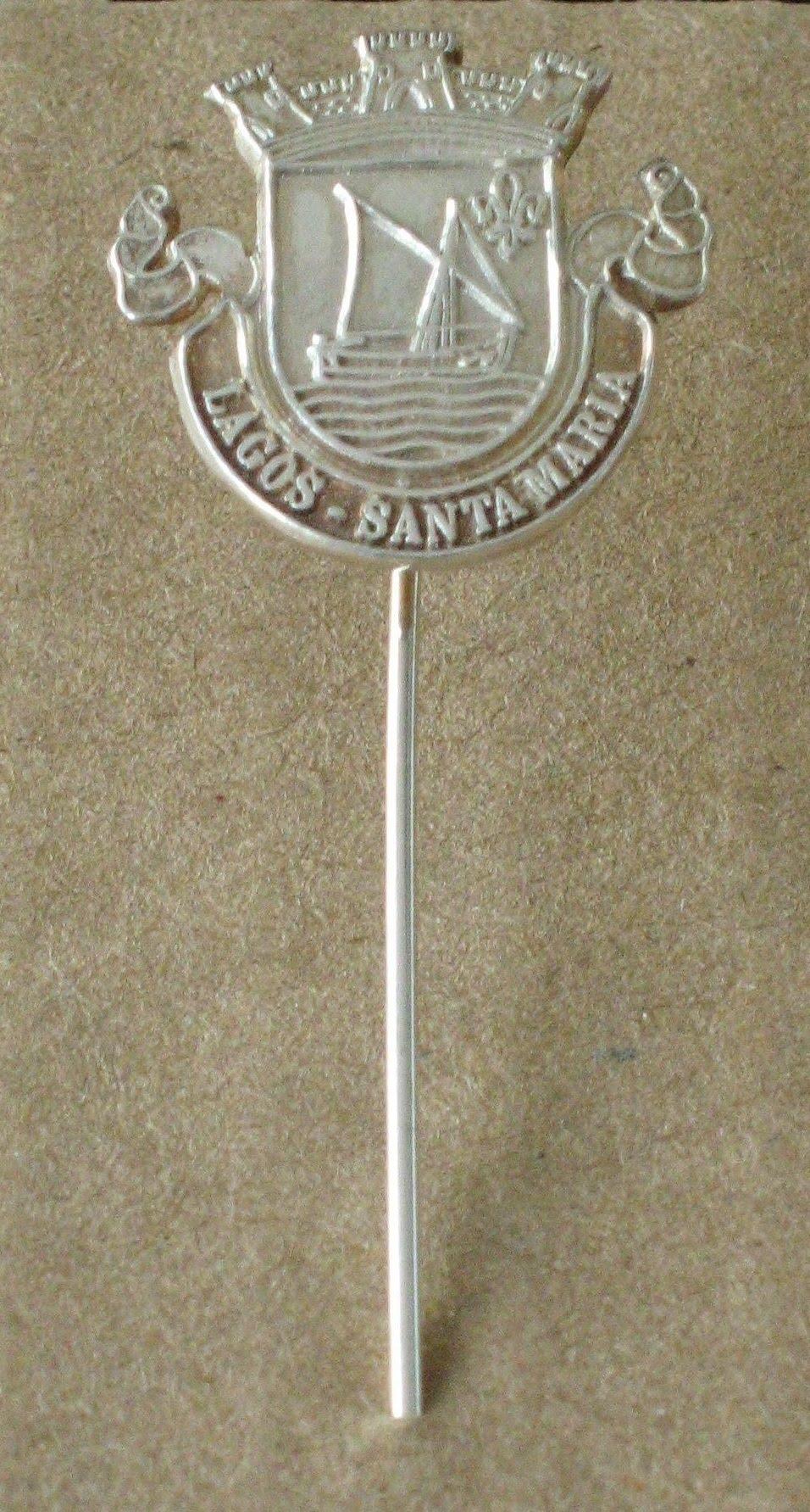 Alfinete de lapela em prata Contraste - Bandeiras do Algarve