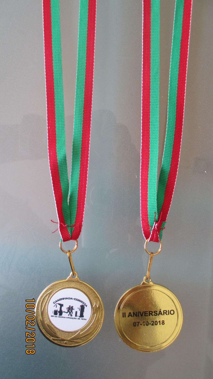 Medalhas 40 mm base metal frente em vinil, verso gravado - Bandeiras do Algarve